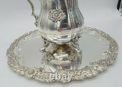 Tiffany & Co. Pitcher D'eau Chrysanthème Et Plaque Sterling Argent