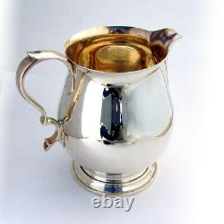 Tiffany Queen Anne Water Pitcher Gilt Intérieur Sterling Silver