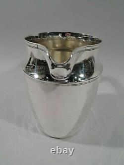 Tiffany Water Pitcher 20211 Moderne Américain Sterling Silver C 1923