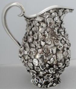 Très Rare Extraction Sterling Silver Nugget Couvert Pichet D'eau Tane Mexicain