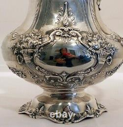 Un Grand Lourd Francis 1 Pichet D'eau Sterling, Marque D'aigle, #570a, Reed Et Barton