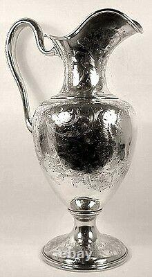 Un Pichet D'eau Sterling Mammouth, Par Galt & Bro, Washington Dc. C. En 1900