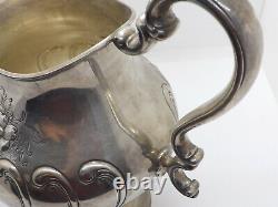 Vieux Gorham Chantilly Comtesse Main Chassé Sterling Argent Pichet D'eau #1031-2