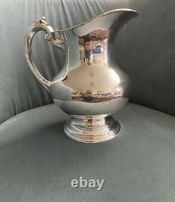 Vintage 8 1/2 Pouces Rose Et Barton X 766 Argent Sterling Pitcher 8 H. P