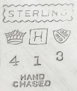 Vintage American Sterling Argent Pitcher D'eau À La Main Chassé