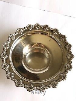 Vintage Argent 925 Cup Lavage Des Mains Et Soucoupe Dernière Eau Set 138,5 Gram