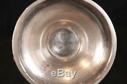 Vintage Feisa Mexicaine En Argent Sterling Pitcher Énorme D'eau / Jug 11 1/2 Grand