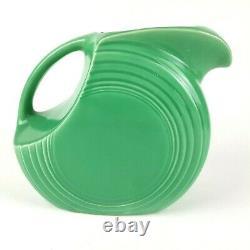 Vintage Fiesta Disque Vert Moyen Pitcher D'eau Jug Fiestaware 7 3/8 Chip