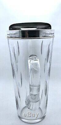 Vintage Hawkes En Argent Sterling Cristal Goutte D'eau Pichet Motif