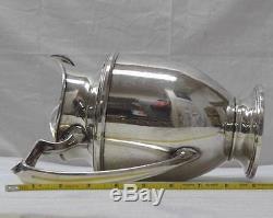 Vintage M. Fred Hirsch Co. Pitcher Grande Eau 402 Argent Sterling 10 1/8 704g