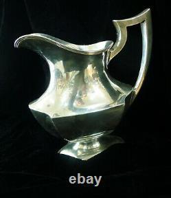 Vintage Meriden Britannia Britannia 1895-1930's Pichet D'eau En Argent Sterling 20zz +