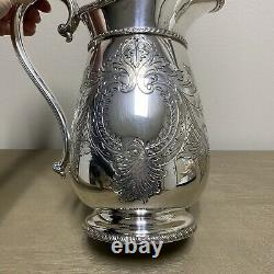 Vintage Old Sheffield Plate Reproduction Pitcher Silver Water (angleterre)