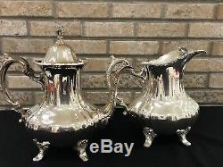 Vintage Poole Epca Lancaster Rose 401 Silver Plate Pichet D'eau 400 Cafetière