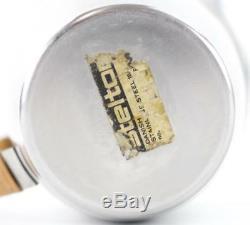 Vintage Rare Stelton Danois Inox Tissage Natté Pichet Pichet Ice Lip