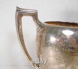 Vintage Reed & Barton USA En Argent Sterling Grand Pichet D'eau Gravé 32 Toz