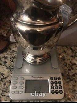 Vintage Rogers Water Pitcher 4 1/2 Pintes Sterling Silver 9h