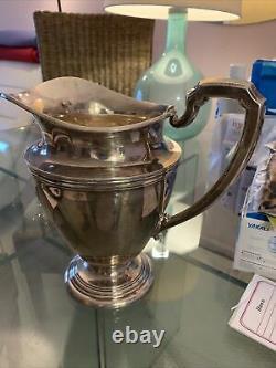 Vintage Sterling Silver 1950s Water Pitcher Par International Silver
