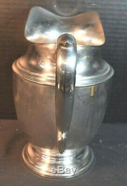 Vintage Sterling Silver Water / Pichet De Lait