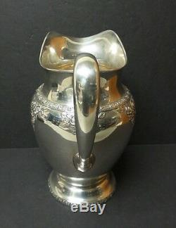 Vintage Wallace Argent Sterling Normandie Pichet, 730 Grammes