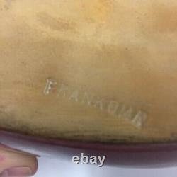 Vtg Frankoma Pottery Réfrigérateur D'eau Jug Pitcher Rosetone 1942 Ada Clay