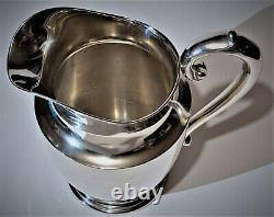 Wallace 201 Sterling Silver Water Pitcher Puritan 4,5 Pintes Hollowware 610 Gms