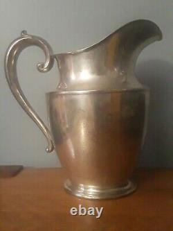 Wallace Antique Sterling Silver Water Pitcher 612 Gms No Monogram 4.5 Pintes #201