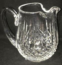 Waterford Crystal Lismore 32 Once Ice Lip Jug / Pitcher D'eau Marqué Sur Le Fond