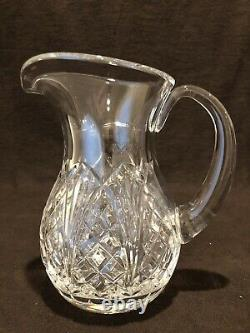 Waterford Crystal Waterville Water Pitcher Jug 7 1/2 H À Spout 44 Oz New Mark